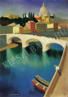 Kontuly Béla - Tiberis (Ponte Sisto), 1930 körül