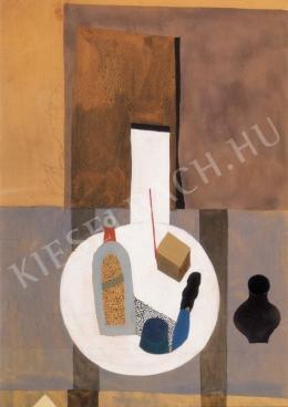 Vajda Lajos - Csendélet rózsaszín asztalon (1934)