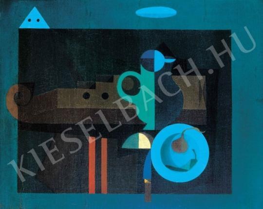 Korniss Dezső - Szentendrei motívum III. (Citerás csendélet), 1935 festménye