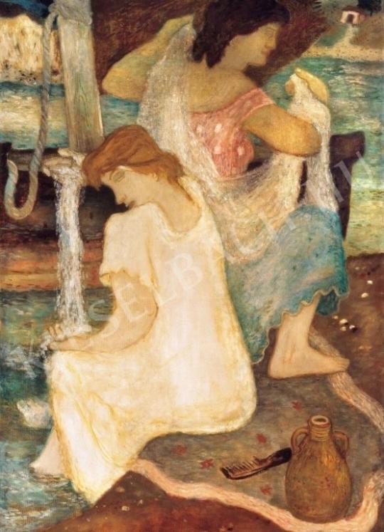 Ámos, Imre - Women, 1934 painting