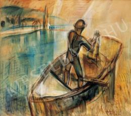 Egry József - Hálóvető (Csónakos), 1928