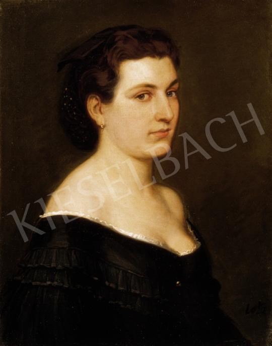Lotz Károly - Kék szemű hölgy | 23. Aukció aukció / 24 tétel