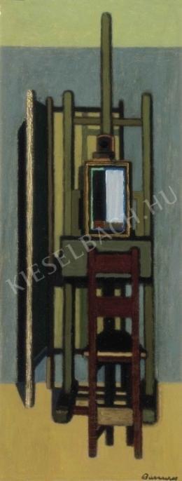 Barcsay Jenő - Festőállvány székkel , 1961