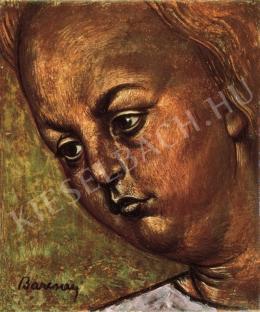Barcsay, Jenő - Girl Head (Small Fresco-Design), 1955