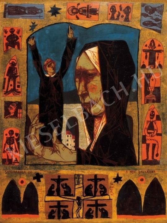 Kondor Béla - Savonarola, 1961 festménye