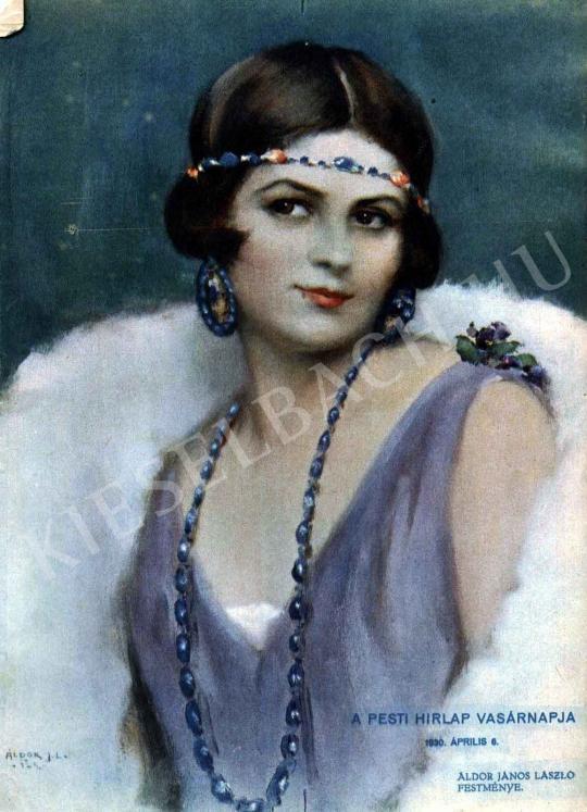 Áldor János László - Női portré festménye