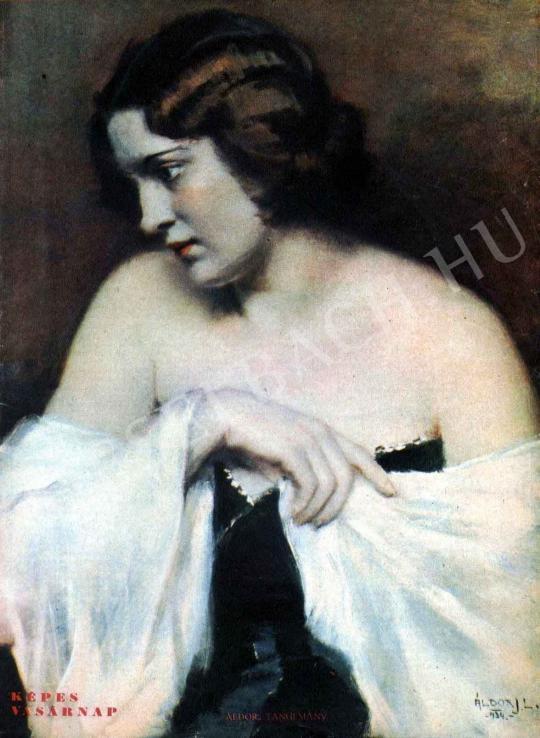 Áldor János László - Tanulmány festménye