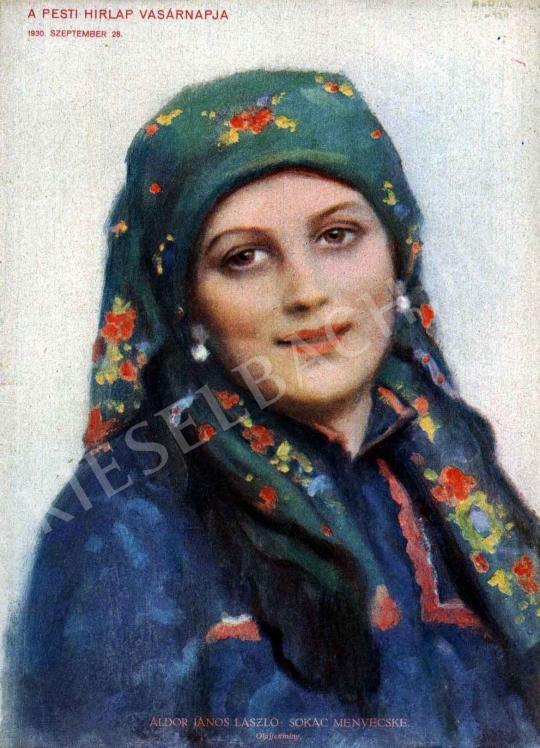 Áldor János László - Sokác menyecske festménye