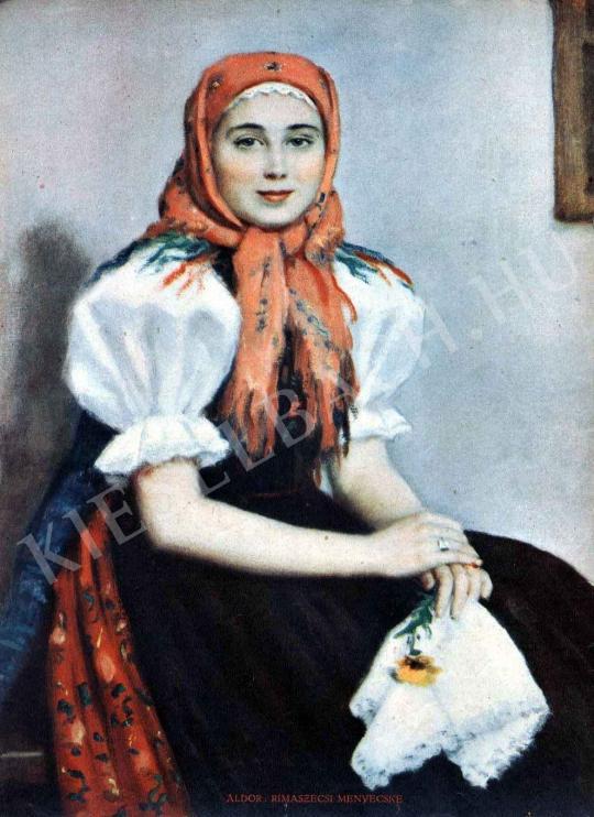 Áldor János László - Rimaszécsi menyecske festménye