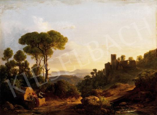 Ifj. Markó Károly - Itáliai táj várrommal, 1858 | 23. Aukció aukció / 30 tétel