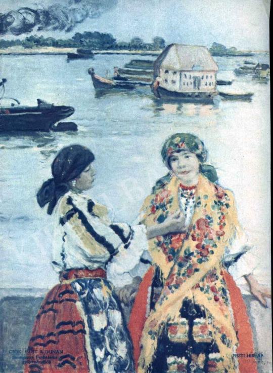 Csók István - Élet a Dunán festménye