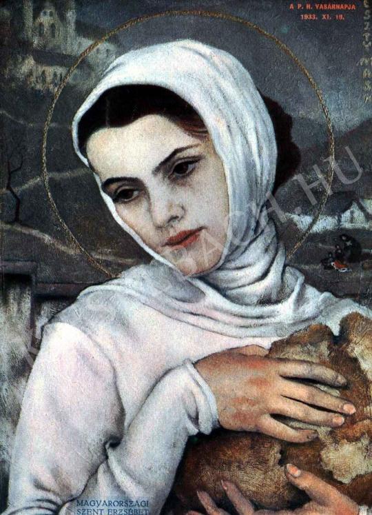 Feszty Masa - Magyarországi Szent Erzsébet festménye
