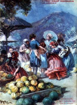 Gergely Imre - Dinnyevásár a pesti Dunaparton