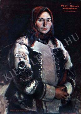 Glatz, Oszkár - Woman in Fur-Lined Short Overcoat