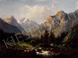 Telepy Károly - Táj hegyi patakkal