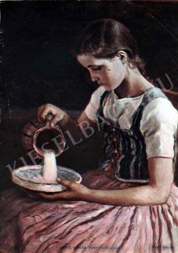Glatz, Oszkár - Girl Pouring Milk