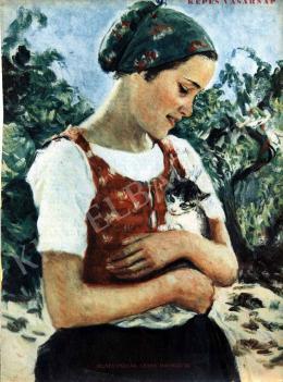 Glatz, Oszkár - Girl with a Cat
