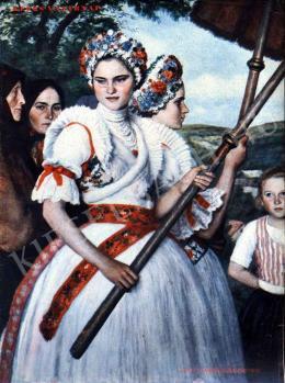 Glatz, Oszkár - Girls in the Procession