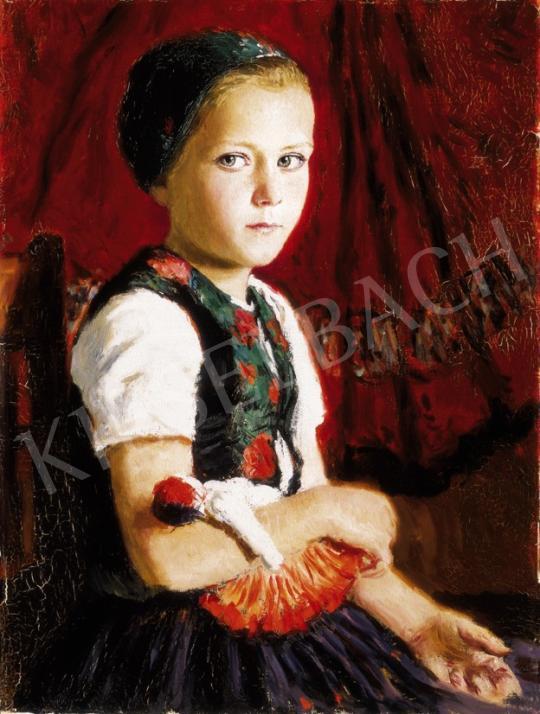 Glatz Oszkár - Kislány babával | 23. Aukció aukció / 37 tétel
