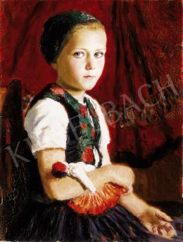 Glatz, Oszkár - Girl with a Doll