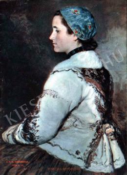 Glatz, Oszkár - Young Wife in Fur-Lined Short Overcoat