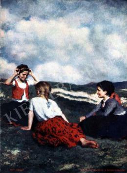 Glatz, Oszkár - Children on the Hillside