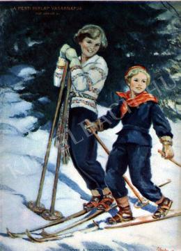 Hadzsy, Olga (B. Hadzsy Olga, Braun Olga, Mar - In the Mountains by Ski
