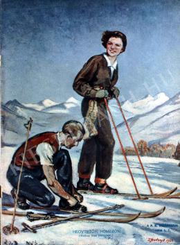 Hadzsy, Olga (B. Hadzsy Olga, Braun Olga, Mar - On the Mountain-Peak, on a Snow-Field