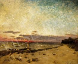 K. Spányi, Béla - Sunset by the Lake Balaton