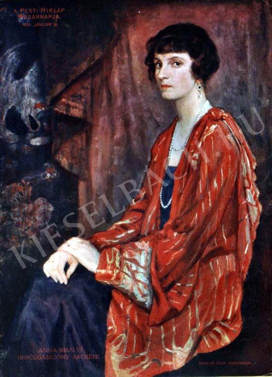Kunwald Cézár - Anna királyi hercegasszony arcképe festménye