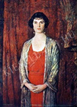 Kunwald Cézár - Anna királyi hercegasszony arcképe