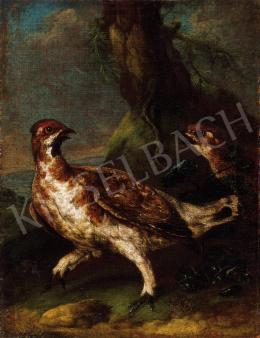 Német festő, 18. század - Veszekedő vércsék