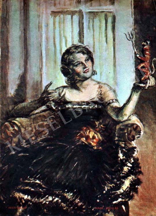 Márk Lajos - Mikulás festménye