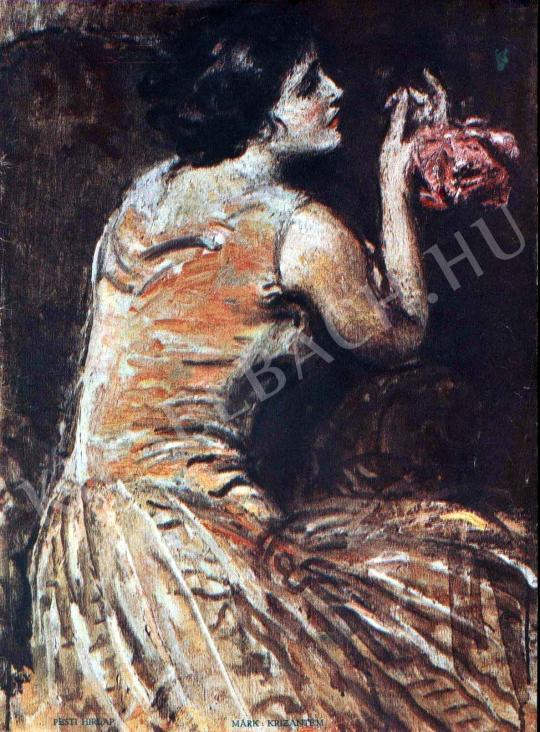 Márk Lajos - Krizantém festménye