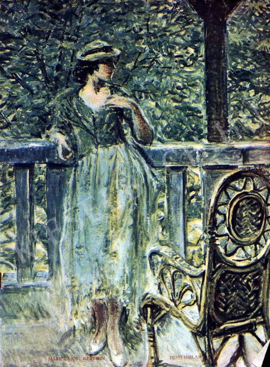 Márk Lajos - Kertben festménye