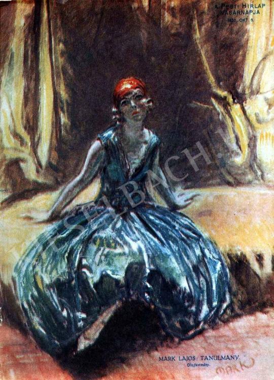 Márk Lajos - Tanulmány festménye