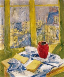 Basch Andor - Csendélet műterem ablakában