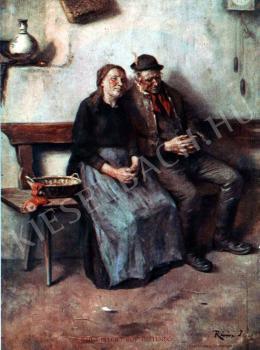Révész Imre - Öregek festménye