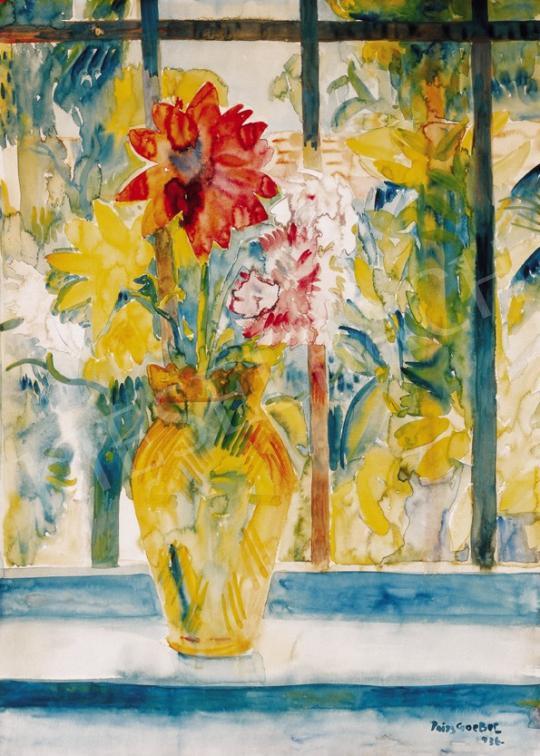 Paizs-Goebel Jenő - Virágcsokor ablakban | 23. Aukció aukció / 52 tétel