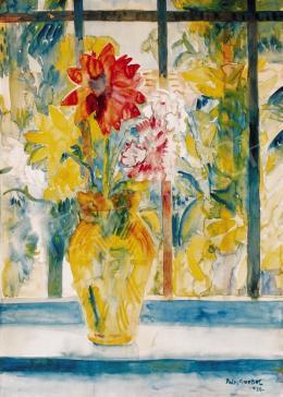 Paizs-Goebel Jenő - Virágcsokor ablakban