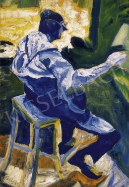 Scheiber Hugó - A festő munka közben