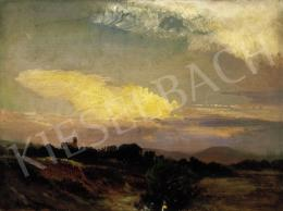 Brodszky, Sándor - Landscape with the Sun Setting