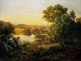 Koebel, Franz Georg - Romantic Landscape with a Lake