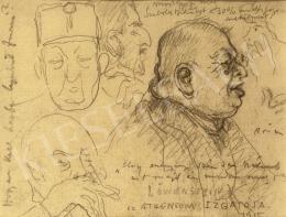 Rippl-Rónai József - Az Atheneum izgatója, 1915