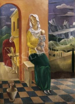 Molnár C. Pál - Pulóveres Madonna I. változat