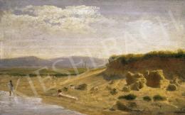 Telepy Károly - Pihenő a Dunaparton