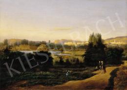 Brodszky Sándor - A Budavár és a Gellérthegy látképe Pest felől 1846-ban