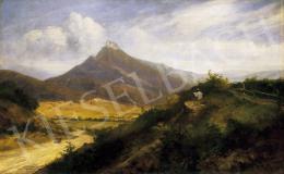 Telepy Károly - Festő tájban (Murán vára)