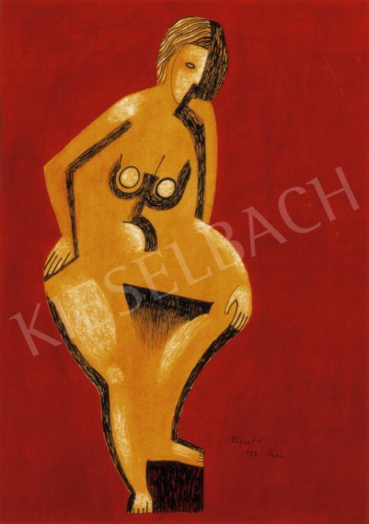 Rafael Győző Viktor - Akt, 1928 | 27. Aukció aukció / 63 tétel