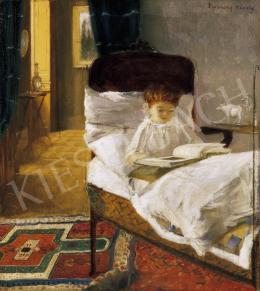 Ferenczy Károly - Valér ágyban
